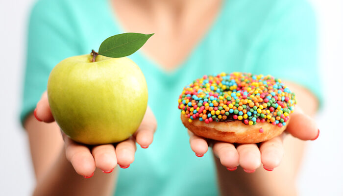 Choosing between an apple or a donut